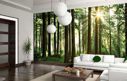 Тропический лес на 3Д обоях